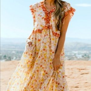 NWT Free People Confetti Combo Floral Maxi $168 M